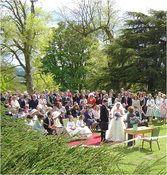 Outdoor weddings at Fingask Castle