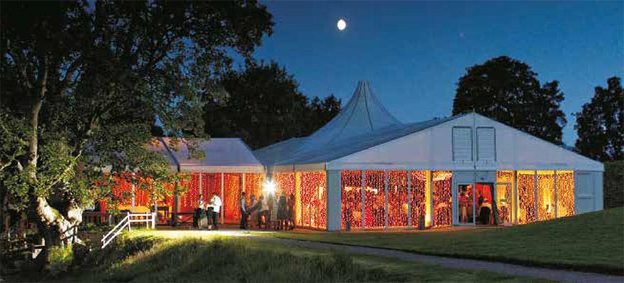 Fingask Castle Pavilion by night