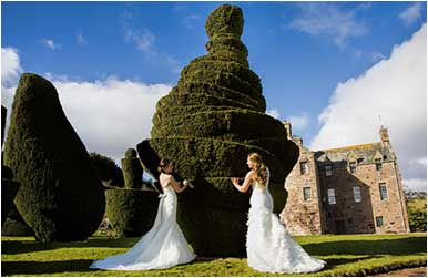 Civil Partnerships at Fingask Castle