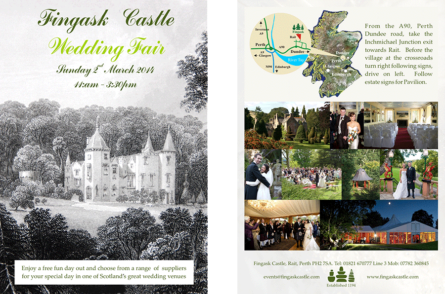 Wedding fair at Fingask Castle – March 2014