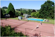 Tennis court at Fingask Castle